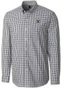 Xavier Musketeers Cutter and Buck Gilman Dress Shirt - Navy Blue