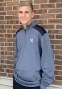 Dayton Flyers Cutter and Buck Shoreline Colorblock 1/4 Zip Pullover - Navy Blue