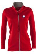 Texas Rangers Womens Antigua Leader Medium Weight Jacket - Red