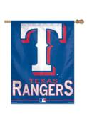 Texas Rangers 27x37 Blue Silk Screen Sleeve Banner