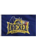 Drexel Dragons 3x5 Blue Navy Blue Silk Screen Grommet Flag
