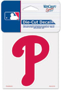 Philadelphia Phillies 4x4 Perfect Cut Logo Auto Decal - Red
