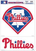 Philadelphia Phillies 2pk 11x17 Multi Use Auto Decal - Red