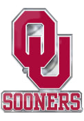 Sports Licensing Solutions Oklahoma Sooners Aluminum Car Emblem - Crimson