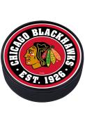 Chicago Blackhawks Established Textured Hockey Puck