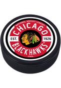 Chicago Blackhawks Gear Textured Hockey Puck