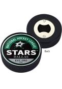 Dallas Stars Block Textured Opener Hockey Puck