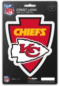 Kansas City Chiefs 5x7.5 Shield Auto Decal - Red