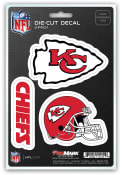 Sports Licensing Solutions Kansas City Chiefs 5x7 inch 3 Pack Die Cut Auto Decal - Red