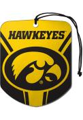 Iowa Hawkeyes Sports Licensing Solutions 2pk Shield Car Air Fresheners - Yellow