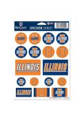 Illinois Fighting Illini 5x7 Stickers