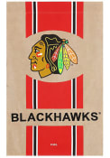 Chicago Blackhawks 29x43 Team Burlap Banner