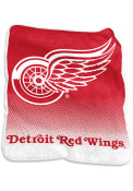 Detroit Red Wings Team Logo Raschel Blanket