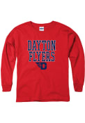 Dayton Flyers Youth Stack Block Logo T-Shirt - Red