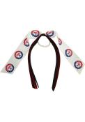 Texas Rangers Kids Pony Streamer Hair Ribbons - White