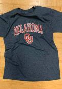 Champion Oklahoma Sooners Charcoal Arch Mascot Tee