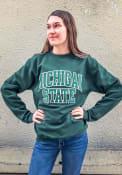 Michigan State Spartans Champion Arch Crew Sweatshirt - Green