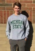 Michigan State Spartans Champion Arch Crew Sweatshirt - Grey