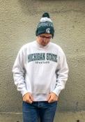 Michigan State Spartans Champion Reverse Out Crew Sweatshirt - Grey