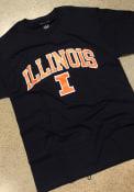 Illinois Fighting Illini Champion Arch Mascot T Shirt - Navy Blue