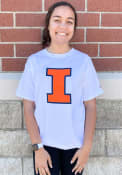 Illinois Fighting Illini Champion Primary Logo T Shirt - White