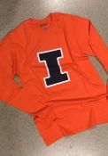 Illinois Fighting Illini Champion Primary Logo T Shirt - Orange