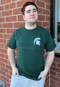 Champion Michigan State Spartans Green Spartan Logo Tee