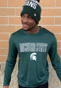 Champion Michigan State Spartans Green Athletic Long Sleeve Tee Tee