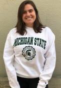 Michigan State Spartans Seal Crew Sweatshirt - White