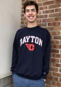 Dayton Flyers Champion Arch Mascot Crew Sweatshirt - Navy Blue