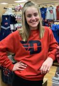 Dayton Flyers Champion Big Logo Crew Sweatshirt - Red