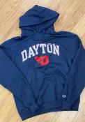 Dayton Flyers Champion Arch Mascot Hooded Sweatshirt - Navy Blue