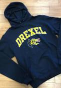 Drexel Dragons Champion Arch Mascot Hooded Sweatshirt - Navy Blue