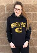 Emporia State Hornets Champion Arch Mascot Hooded Sweatshirt - Black