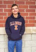 Illinois Fighting Illini Champion Arch Mascot Hooded Sweatshirt - Navy Blue