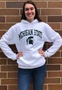 Michigan State Spartans Champion Arch Mascot Hooded Sweatshirt - White