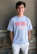 Drury Panthers Champion Arch Mascot T Shirt - Grey