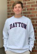 Dayton Flyers Champion Reverse Weave Crew Sweatshirt - Grey