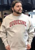 Duquesne Dukes Champion Reverse Weave Crew Sweatshirt - Grey