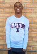 Illinois Fighting Illini Champion Sleeve T Shirt - White