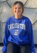 Creighton Bluejays Champion Arch Mascot Powerblend Crew Sweatshirt - Blue