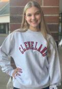 Cleveland Champion Arched Crew Sweatshirt - Grey