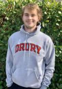 Drury Panthers Champion Arch Name Hooded Sweatshirt - Grey