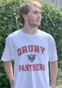 Drury Panthers Champion Distressed T Shirt - White