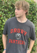 Drury Panthers Champion Distressed T Shirt - Charcoal