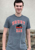 Drury Panthers Champion Dad Number One Fashion T Shirt - Grey