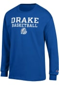 Drake Bulldogs Champion Basketball T Shirt - Blue