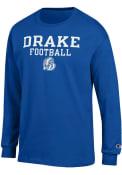 Drake Bulldogs Champion Football T Shirt - Blue