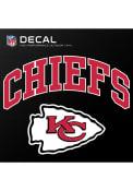 Kansas City Chiefs 6x6 vinyl Auto Decal - Red