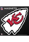 Kansas City Chiefs 6x6 Arrowhead Car Magnet - Red